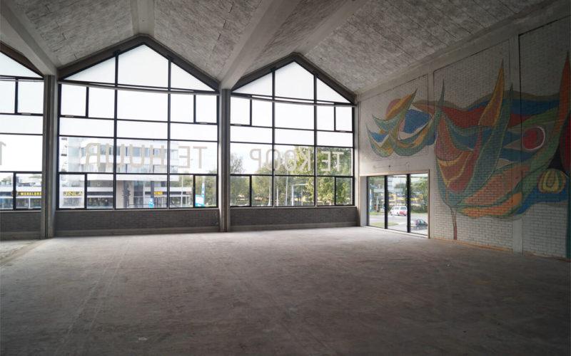bop-aula-haarlemse school-foto-bestaand-eerste verdieping-kunstwerk