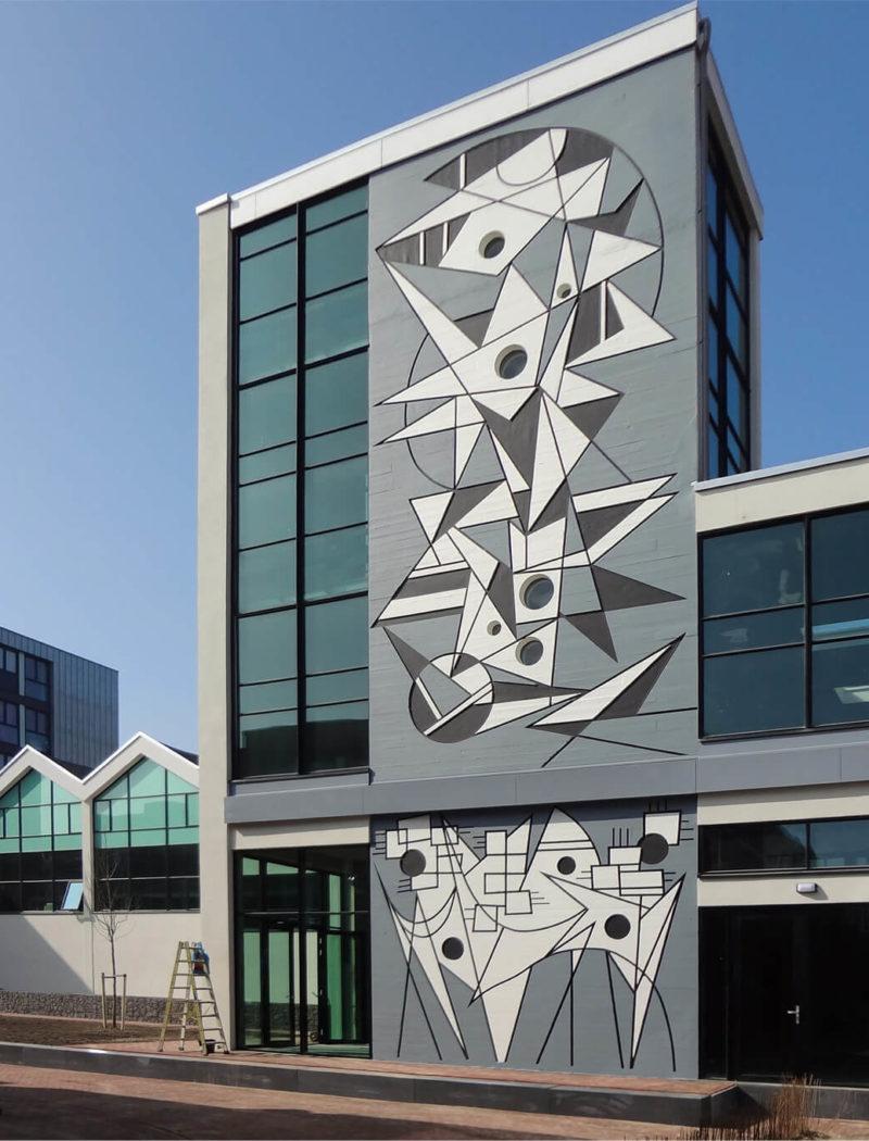bop-aula-haarlemse school-foto-bestaand-kunstwerk trappenhuis
